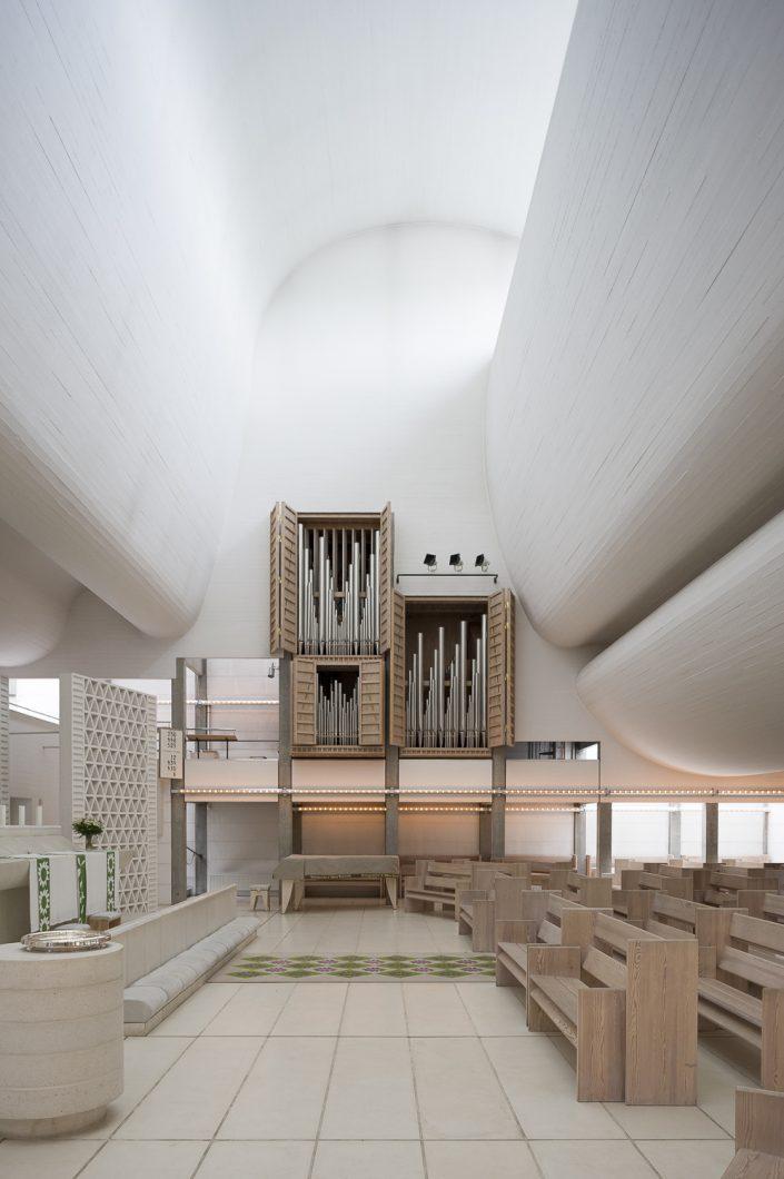 Bagsvaerd Kirke te Kopenhagen, Denemarken